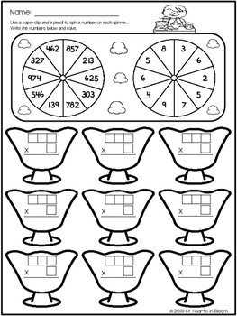 Spin and Solve Worksheets - June Edition (Freebie)