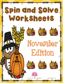 Spin and Solve Worksheets - November Edition (Freebie)