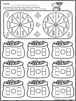 Spin and Solve Worksheets - September Edition (Freebie)