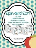 Spin and Sort: Short Vowel practice activities