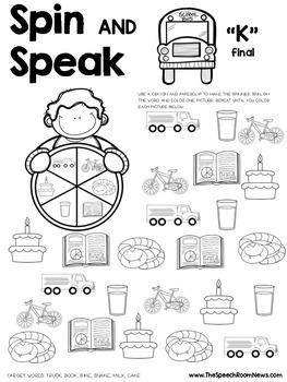 Spin and Speak: Back to School Articulation