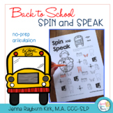 Spin and Speak™: Back to School Articulation