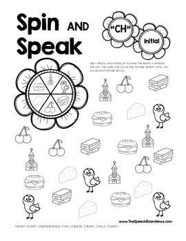 Spin and Speak: Bloom Articulation: Spring No Prep