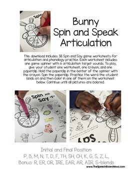 Spin and Speak: Bunny Articulation