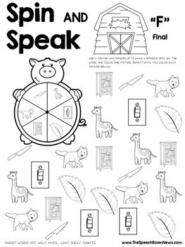 Spin and Speak™: Farm for Articulation
