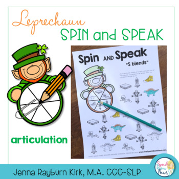 Spin and Speak: Leprechaun for St. Patrick's Day Speech Therapy