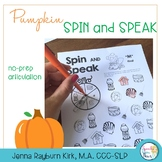 Spin and Speak™: Pumpkins for Articulation