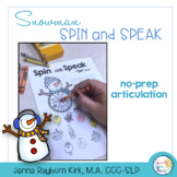 Spin and Speak: Snowman for Articulation