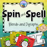 Blends and Digraphs Game - Spin and Spell