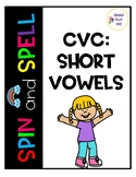 Spin and Spell: CVC Short Vowels (Write and Wipe)
