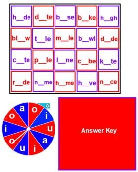 Spin and Spell VOWELS and VOWEL PAIRS