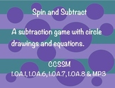 Spin and Subtract (First Grade Subtraction Game)
