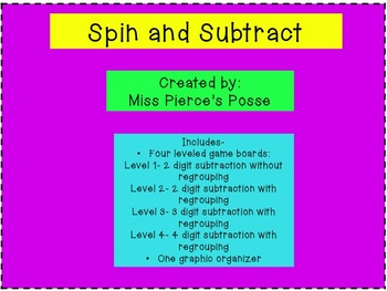 Spin and Subtract: 4 levels
