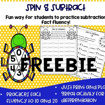 Spin and Subtract- Freebie