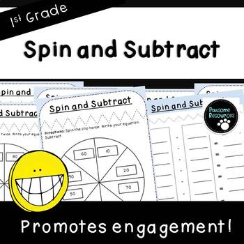 Spin and Subtract-Place Value Student Mat (First Grade, 1.NBT.6)