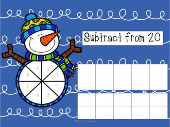 Spin and Subtract Snowmen