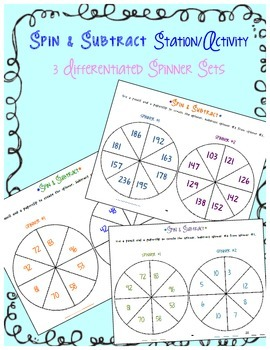 Spin and Subtract Station - 3 Differentiated Spinners