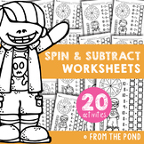 Subtraction Worksheets - Spin and Subtract Practice Activities