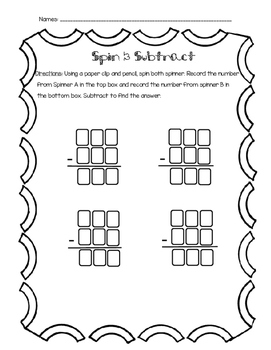 Spin and Subtract with Regrouping