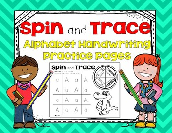 Spin and Trace Alphabet Handwriting Practice Pages