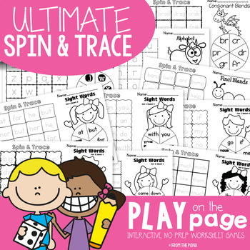Spin and Trace Ultimate Pack - Play on the Page Worksheets