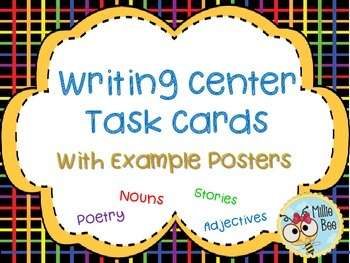 Writing Center Activities with  Poetry, Nouns, Adjectives, Stories