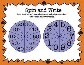 Spin and Write the Number Word