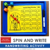 Spin and Write Alphabet Letters