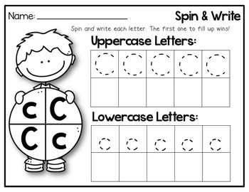Spin and Write Letters