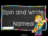 Spin and Write: Names