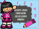 Spin and Write: Numbers {1-10}
