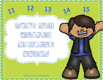 Spin and Write: Numbers {1-20} Bundle
