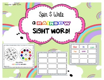 Spin and Write  Rainbow Sight Words