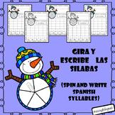 Spin and Write Spanish Syllables (Gira y escribe silabas en espanol)