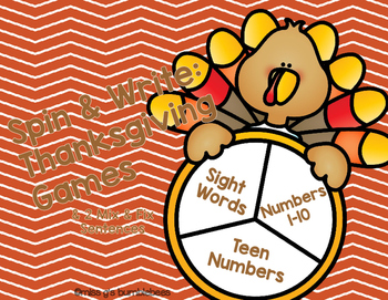 Spin and Write: Thanksgiving Games