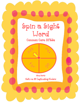Spin and Write a Sight Word