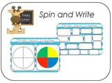 Spin and Write a Word (colour spinner)