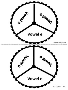 FREE Spin and Write the Word - Vowels