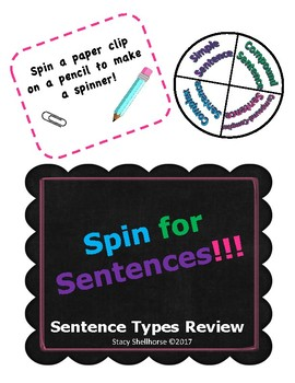 Spin for Sentences - Types of Sentences Review