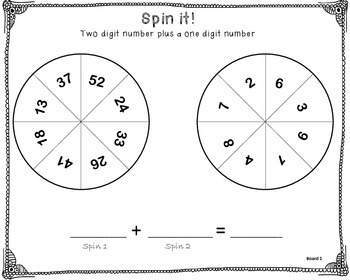 Spin it! Adding to a two digit number