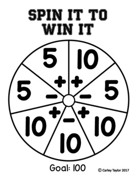 Spin it to Win it Mental Math Game
