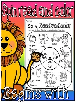 Spin read and color beginning sounds