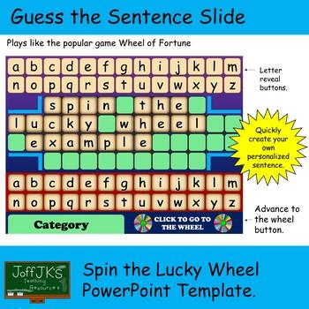Wheel Of Fortune Template | Wheel Of Fortune Template Teaching Resources Teachers Pay Teachers