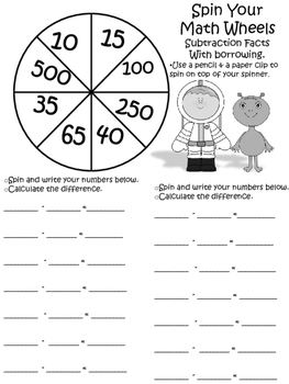 Spin the Math Wheels with Addition and Subtraction