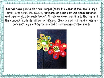 Spin the Pinwheel: ABC's, Numbers and Colors