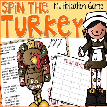 Spin the Turkey Multiplication Game for Thanksgiving