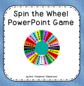 spin the wheel game - wheel of fortune inspired powerpoint game, Powerpoint templates