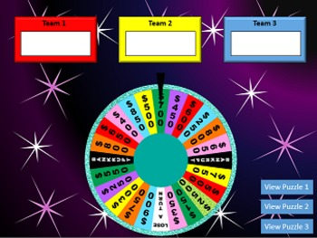 Spin the wheel game wheel of fortune inspired powerpoint for Wheel of fortune board template