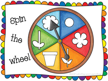 Spin the Wheel, Let's Build Flowers! A Preschool/Toddler Game