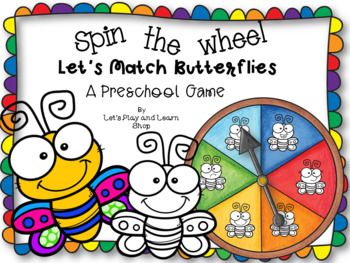 Spin the Wheel, Let's Match Butterflies! A Preschool Game